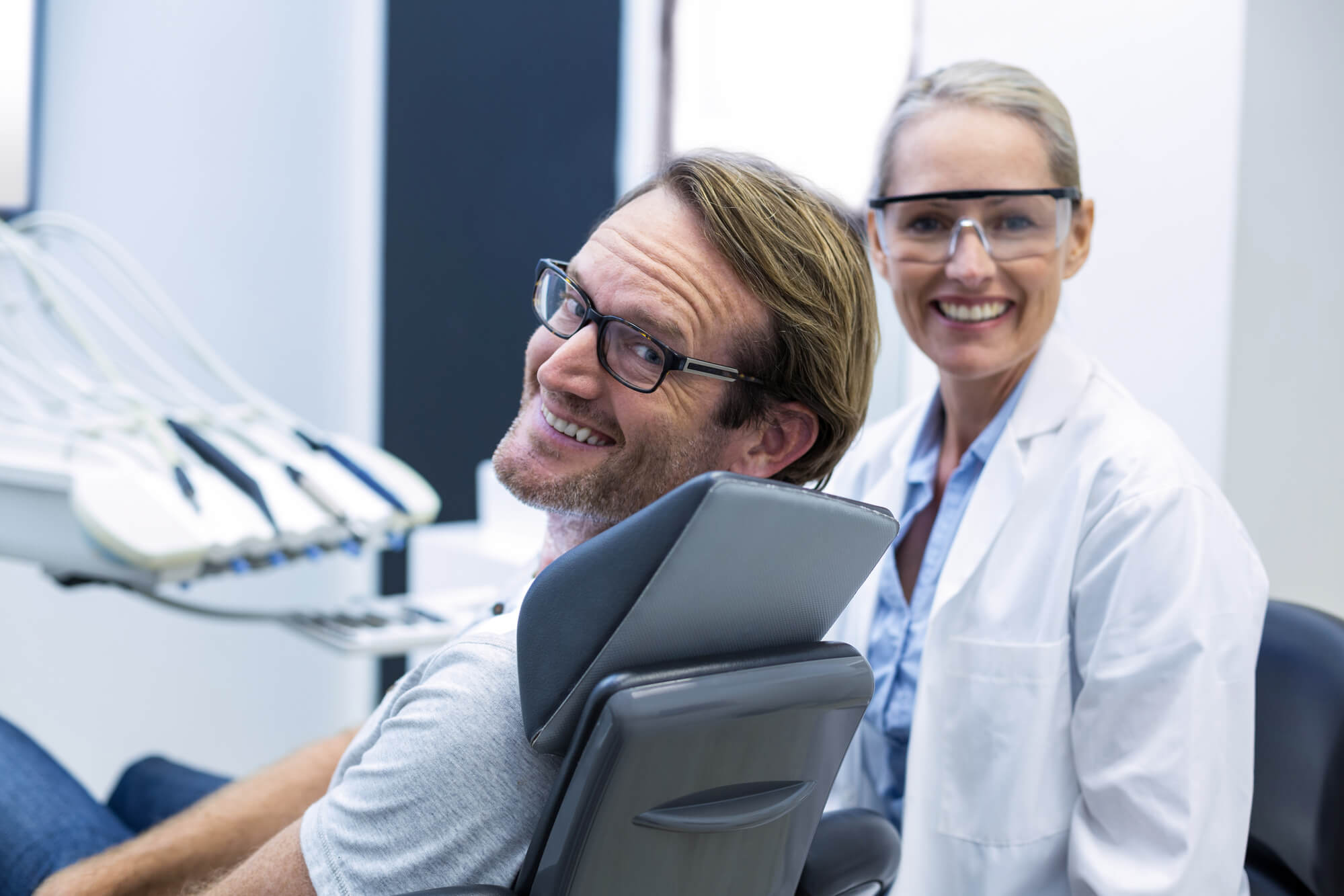 Dentist and Patient of Holistic Implants in Palm Beach Gardens